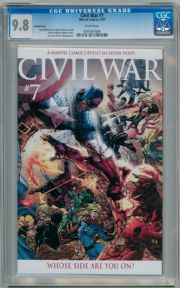 Civil War #7 Michael Turner Retail Incentive Variant CGC 9.8 Captain America 3 Movie Marvel comic book